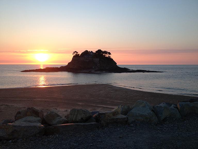 Coucher de soleil sur le fort Dugesclin