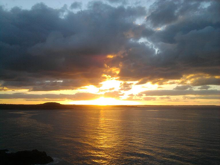 Coucher de soleil sur la plage Duguesclin